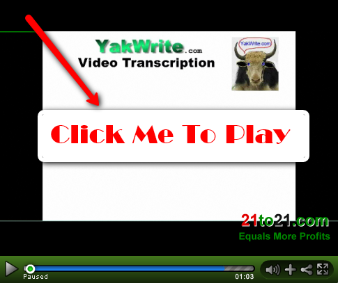 Video Transcription at www.YakWrite.com